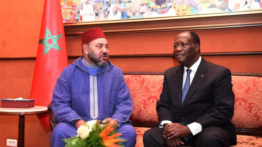 الملك محمد السادس رفة الرئيس الإيفواري واتارا